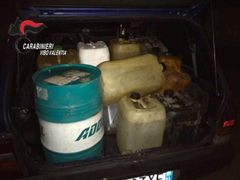Rubavano carburante da una pompa di benzina, quattro arresti nel Vibonese