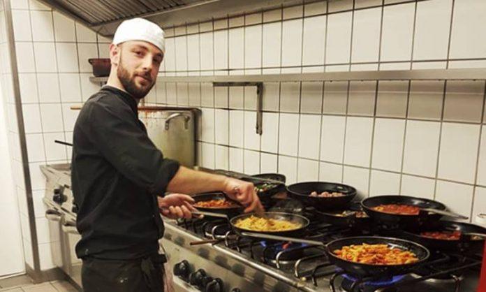 Il giovane cuoco Michele Schinelli