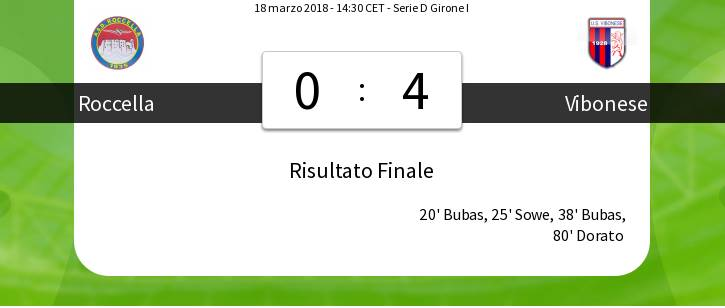 Serie D, la Vibonese vince a Roccella e balza in vetta alla classifica (VIDEO)