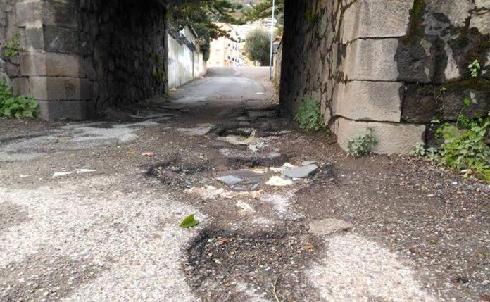 La strada del Ponticello di Vibo Marina