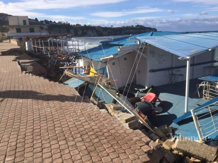 I danni della mareggiata di gennaio 2017 a Tropea