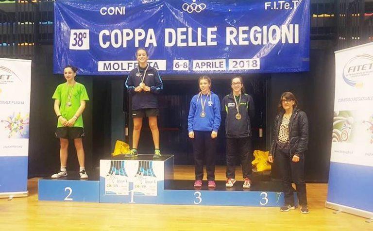 """Tennistavolo, la vibonese Miriam Carnovale conquista la """"Coppa delle Regioni"""""""