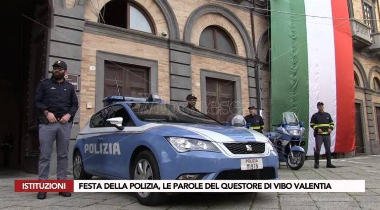 """Festa della Polizia a Vibo: """"Grande impegno contro la criminalità"""" (VIDEO)"""