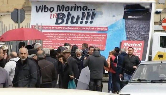 La manifestazione di protesta a Vibo Marina