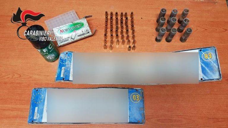 Munizioni per fucile e pistola trovati dai carabinieri fra Nicotera e Limbadi