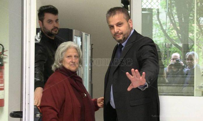 Rosaria Scarpulla con il maggiore Valerio Palmieri