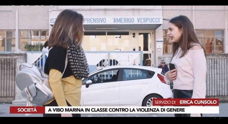 """Contrasto alla violenza di genere, il """"Vespucci"""" di Vibo Marina in prima linea (VIDEO)"""