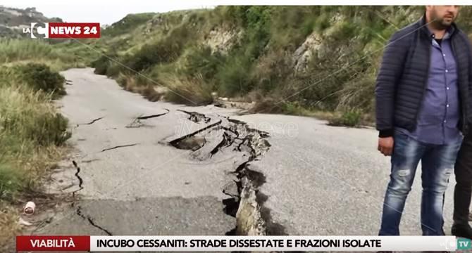 A Cessaniti viabilità al collasso e cittadini esasperati (VIDEO)