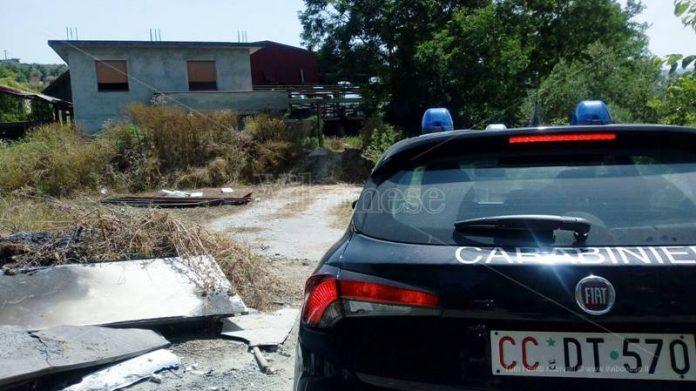 """Carabinieri all'ex fornace """"La tranquilla"""" di San Calogero"""