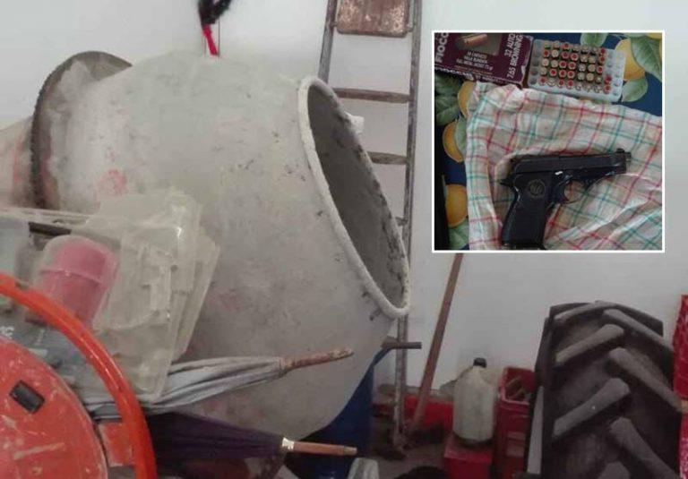 Pistola nella betoniera, 59enne di Briatico lascia i domiciliari