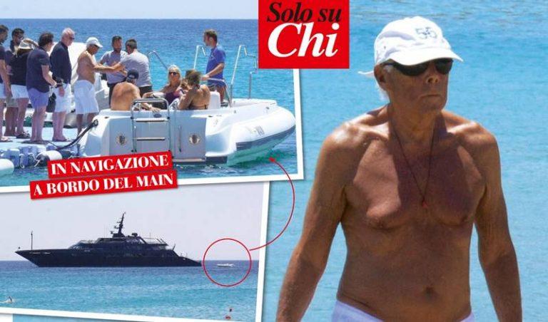 Giorgio Armani sceglie Tropea per festeggiare il suo compleanno
