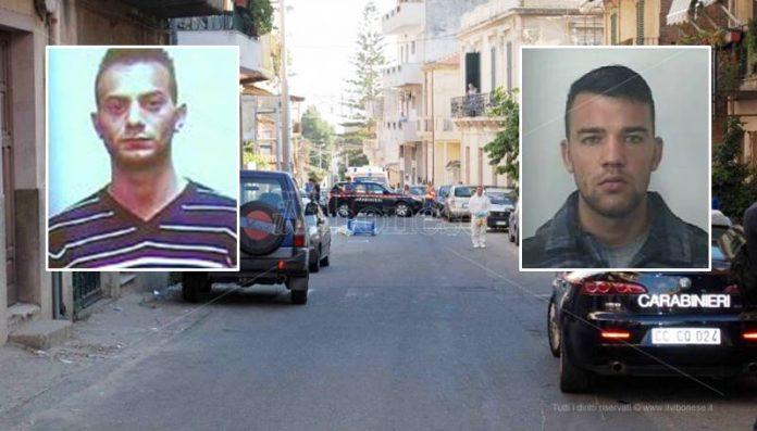 L'omicidio Canale. Nei riquadri, da sinistra, Bono e Figliuzzi