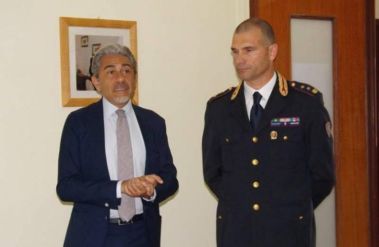Il questore Andrea Grassi in visita alla Sezione della Polstrada di Vibo