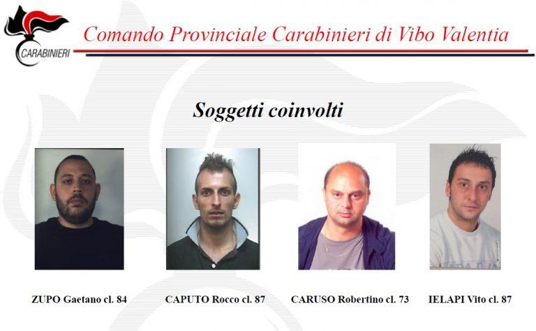 Spaccio di cocaina nell'Angitolano e a Mileto, ecco le accuse ai 4 arrestati (VIDEO)
