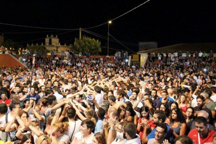 Una recente edizione del Tamburello Festival