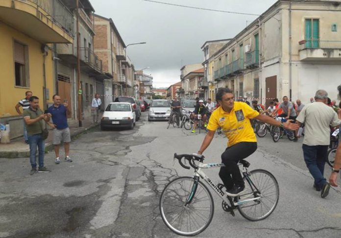 Il campione di ciclismo Claudio Chappucci