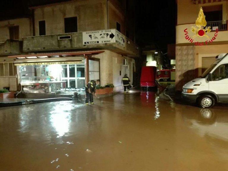 Maltempo nel Vibonese, oltre trenta interventi dei vigili del fuoco (FOTO/VIDEO)