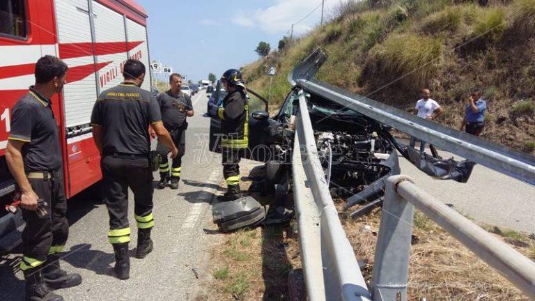 Due incidenti stradali nel Vibonese, migliorano le condizioni dei feriti