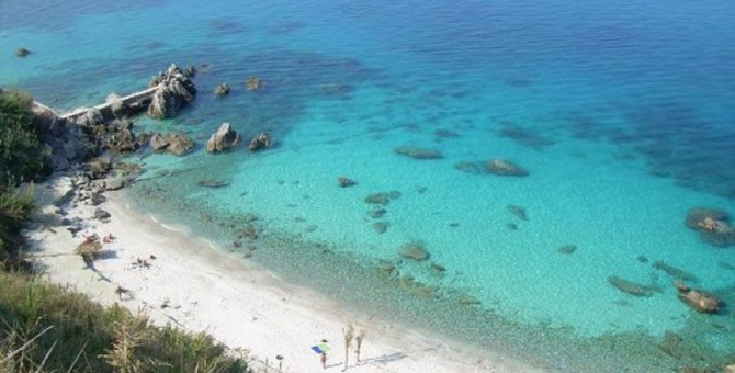 La famosa spiaggia di Michelino a Parghelia
