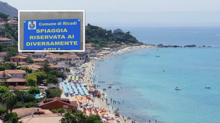 Ricadi, spiaggia di Santa Maria: sottratta targa diversamente abili