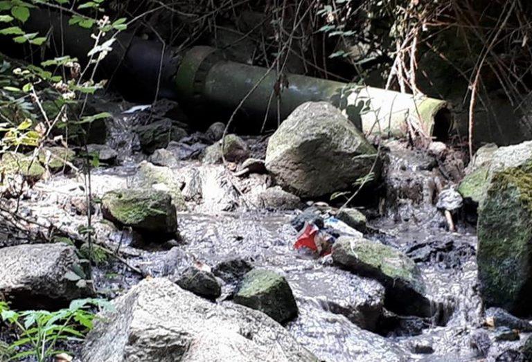 """""""Bomba"""" ecologica a Coccorinello di Joppolo, scarichi fognari direttamente nel torrente (VIDEO)"""