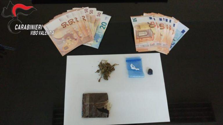 Droga in casa, un arresto e una denuncia nel Vibonese