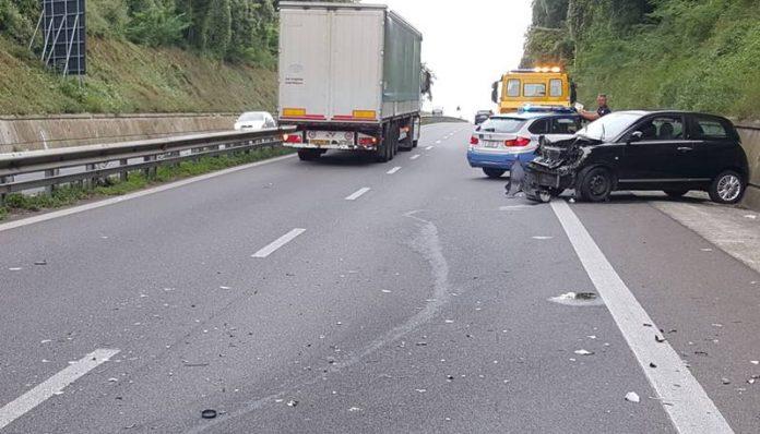 L'incidente avvenuto sull'A2