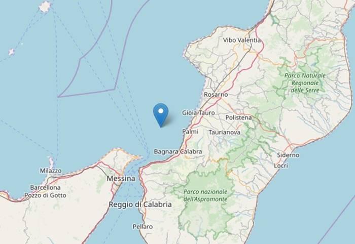 Nuova scossa al largo di Palmi: terremoto di magnitudo 3.1