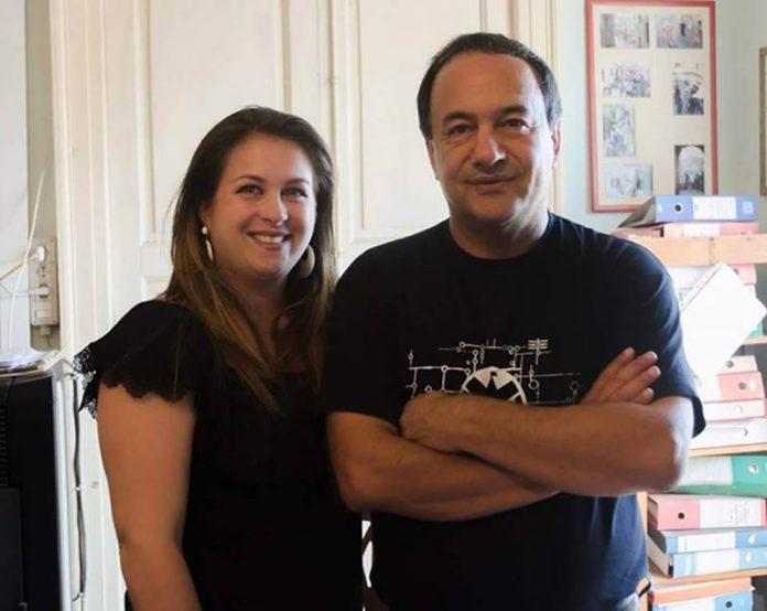 La scrittrice Giusy Staropoli Calafati e il sindaco Lucano