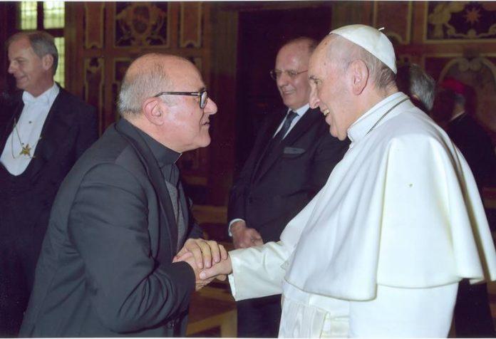 Monsignor Currà con Papa Francesco