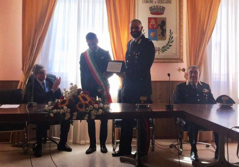 Gerocarne, encomio solenne per il maresciallo Davide Orlando