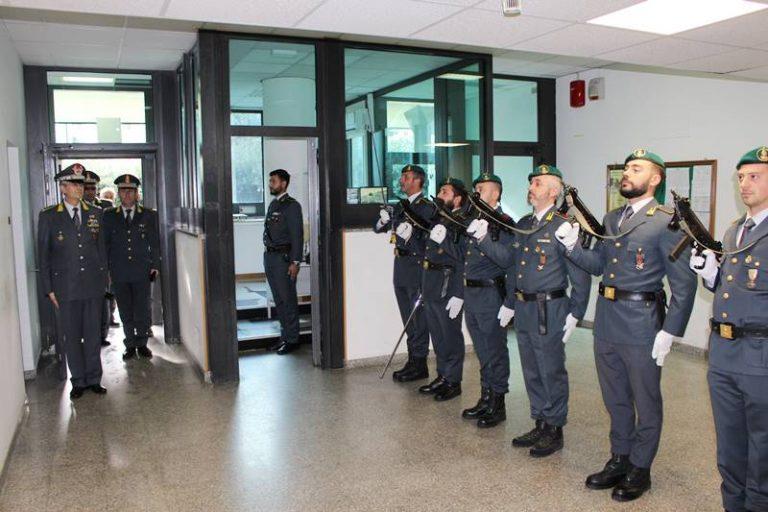 Guardia di finanza, il generale Carmine Lopez in visita al Comando di Vibo