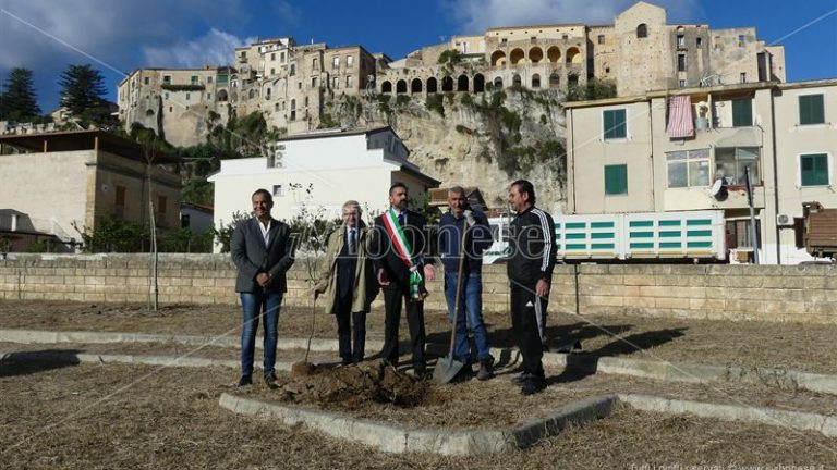 Tropea, dal Rotary quaranta piante per riqualificare un parcheggio abbandonato – Video