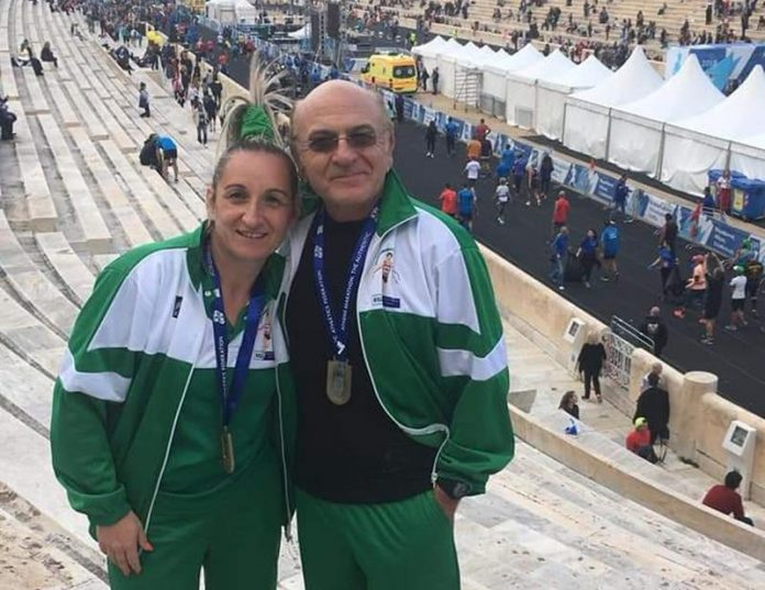 Luisa Lamanna e Nicola Molè ad Atene
