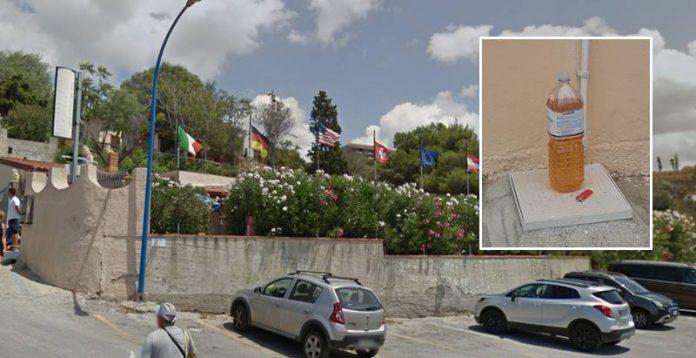 La struttura presa di mira a Capo Vaticano