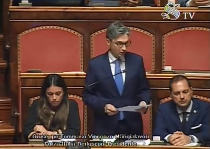 Giuseppe Mangialavori in Senato