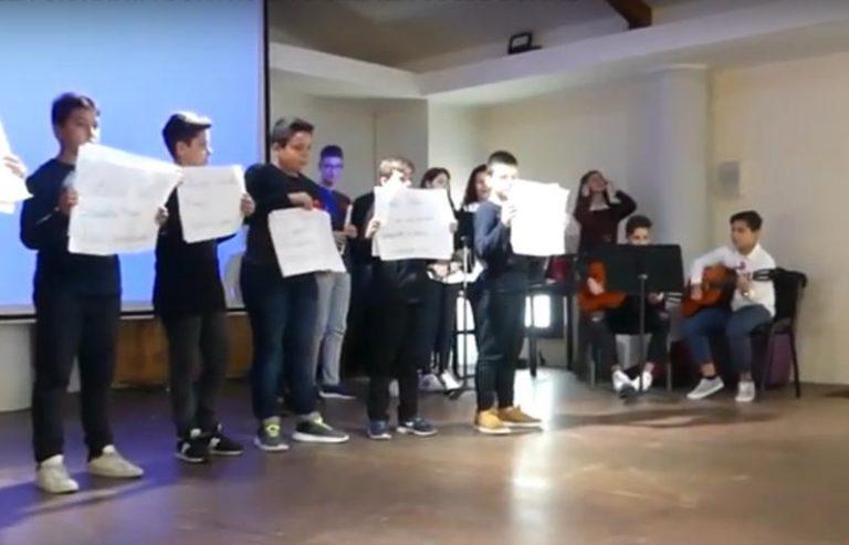 L'arte dei ragazzi di Pizzoni e Vazzano per dire No al femminicidio – Video