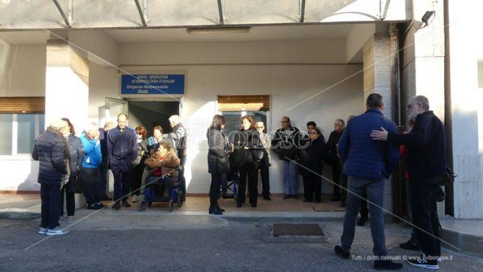 La protesta dei dializzati di Tropea