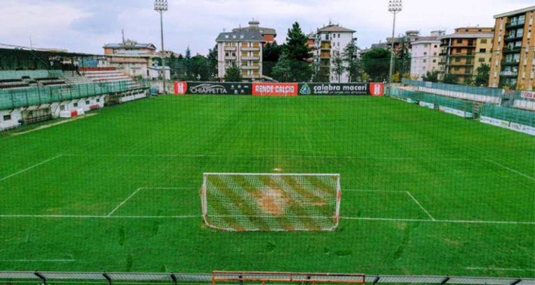 """Lavori nei pressi del """"Lorenzon"""" di Rende, a rischio la sfida d'alta classifica con la Vibonese"""