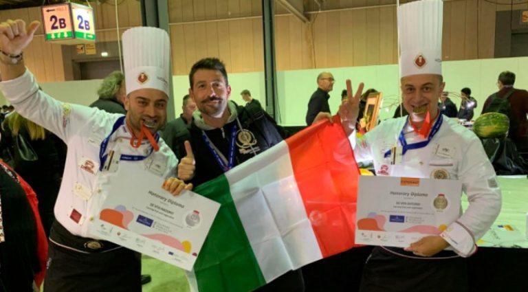 Intaglio gastronomico, i fratelli De Vita fanno incetta di medaglie ai Mondiali in Lussemburgo