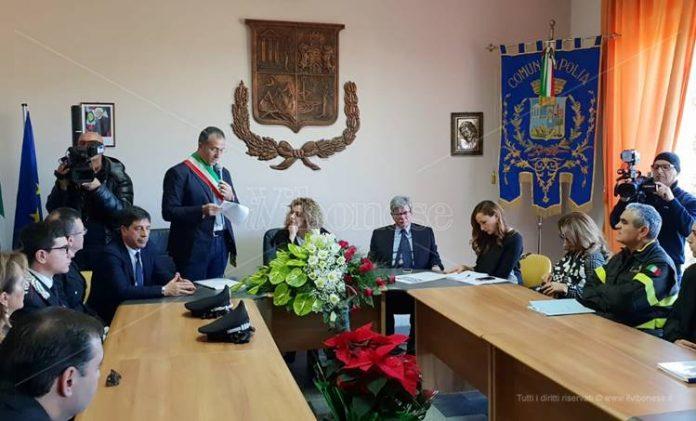L'incontro in Municipio a Polia
