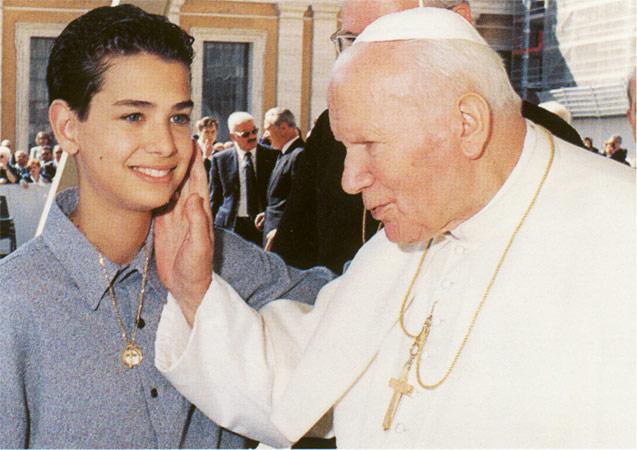 Micheal Cuccione con il papa
