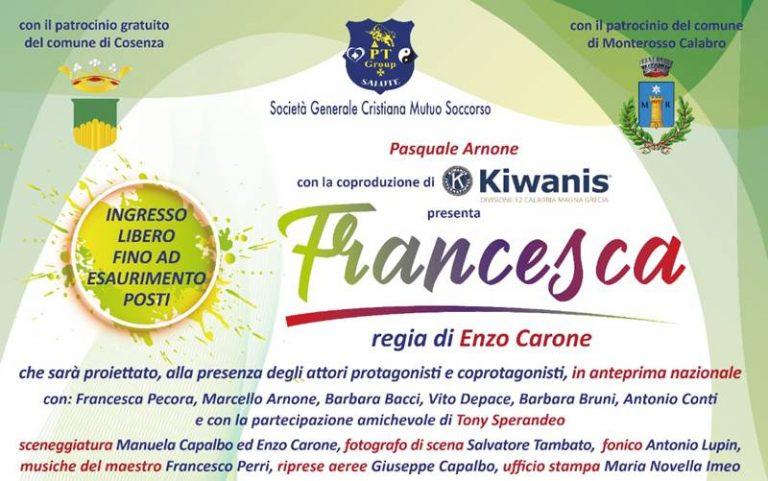 """""""Francesca"""", a Rende la prima del film anti-bullismo girato a Monterosso"""