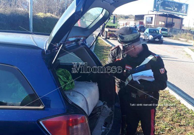 In auto con carico di marijuana, corriere bloccato dai carabinieri a Sant'Onofrio – Foto-Video