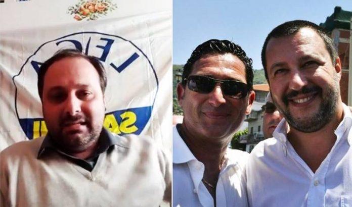 Piserà e (a destra) De Pinto con Salvini