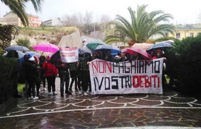 La protesta a Rombiolo