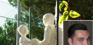 Il monumento dedicato ad Aldo Ferraro