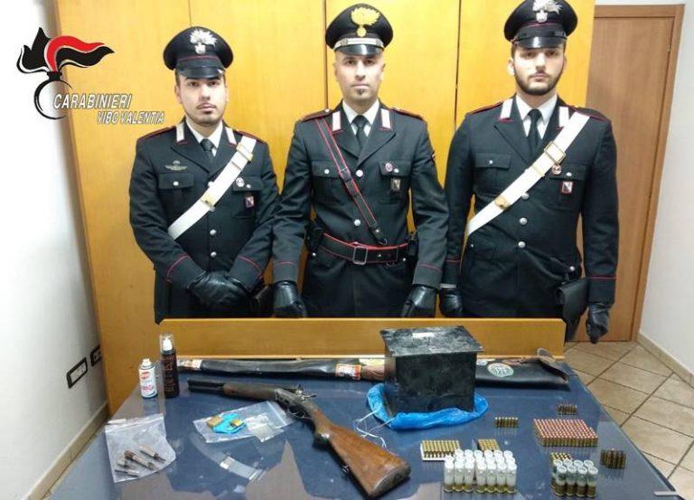 Fucile e auto provento di furti ritrovati in un garage, denunciata coppia di Ricadi