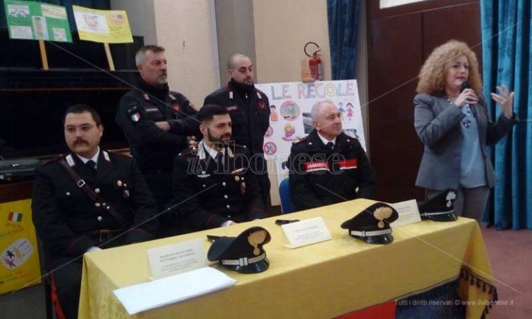 """Educazione alla legalità, carabinieri in cattedra alla """"Don Bosco"""" di Vibo – Video"""