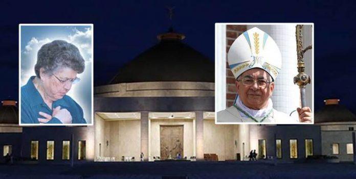 Natuzza Evolo e il vescovo Luigi Renzo